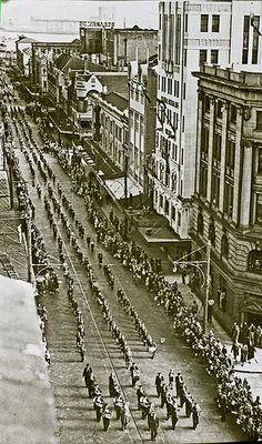 Parade, Hunter Street near Bolton Street, Newcastle, NSW, Hunter Street, Australian Road Trip, Library University, Dark Stories, Newcastle Nsw, Historical Architecture, City Buildings, Aerial View, Old Photos