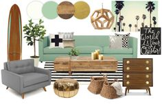Mood Board: Malibu Living // 7thhouseontheleft.com Surf board and possible colors ???