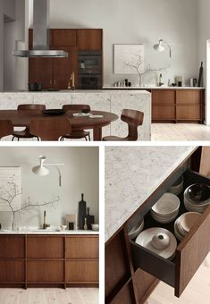 9 Fantastic Kitchens with Wooden Cabinets Done Right – Nordic Design 5 Fantastic Kitchens with Oak Cabinets Done Right – Oak Kitchen Cabinets, Built In Cabinets, Wooden Cabinets, Luxury Kitchens, Cool Kitchens, Rustic Kitchens, Open Kitchens, New Kitchen, Kitchen Decor