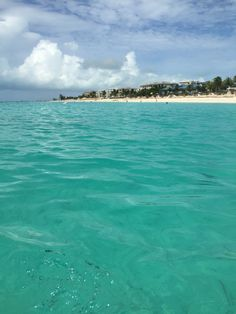 The water is so beautiful at the Turks