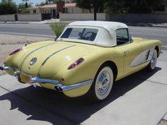 Chevy Sports Cars, Sport Cars, Hot Rods, Convertible, Classic Corvette, Porsche Classic, Classic Car Insurance, Yellow Car, Old Classic Cars