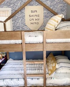 "SUNSHINE ON MY MIND AND BEDDY'S ON MY BED 😏 ""Making bunk beds just got a whole lot easier thanks to Beddy's. I will never turn back to another bedding set."" -@southshorecolonial #beddys #zipperbedding #zipyourbed #girlbedding #girlbed #beddysbeds #girlyroom #girlsroomdecor #girlsroom #girlsroominspo #girlsroominspiration #girlsroomdecoration #girlsroomstyling #girlystuff #bedding #beddings #homedecor #homedesign #bedroomgoals #bedroomideas #boysroom Cool Room Decor, Cool Rooms, Small Rooms, Floral Bedroom Decor, Boho Decor, Kid Beds, Bunk Beds, Shared Bedrooms, Teen Bedrooms"