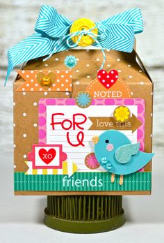 Altered Project: Gift Box designed by Lisa Swift featuring @Brittney Anderson Pippin design inc. Kraft in Color collection @Amanda Snelson Harris Issues Team