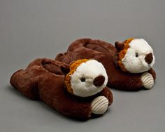 Otter Slippers: Cute and cozy otter slippers! Makes a great gift.