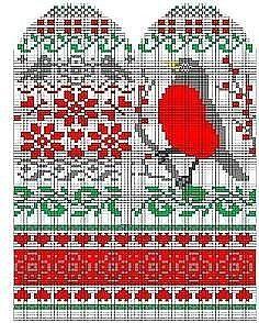 Knitted Mittens Pattern, Knit Mittens, Mitten Gloves, Knitting Socks, Knitting Charts, Knitting Patterns Free, Fair Isle Pattern, Craft Organization, Handicraft