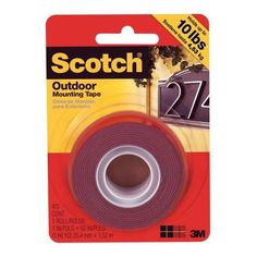 Scotch 1 in. x 1.66 yds. Outdoor Mounting Tape-411/DC - The Home Depot