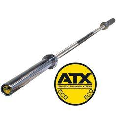 Original ATX® ECO Bar - Bushing. Die ATX®- Bars aus der ECO-economical Serie sind schwer belastbare Hantelstangen aus Medium-Carbon-Stahl mit 185.000 PSI / 185K Die Stangen besitzen einen hohen Härtegrad bei gleichzeitig ausreichender Elastizität und sind somit für schweres Kreuzheben, Kniebeugen etc. bestens geeignet. #atxpower #lanhantelstange http://www.megafitness-shop.info/Kraftsport/Hanteln-Gewichte/Hantelstangen/50-mm/Original-ATX�-ECO-Bar-Bushing-500-kg--3602.html