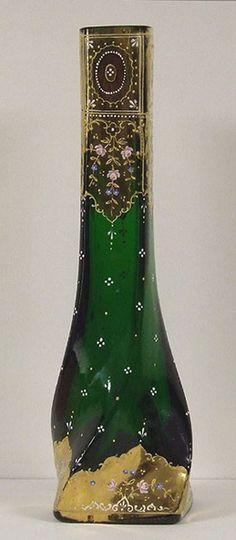 (http://www.allantiqueglass.com/bohemian-glass-13-hand-painted-twist-vase-19thc/)