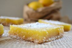 Lemon Bars with Browned Butter Short Bread Crust