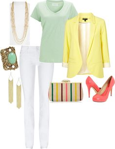 """Spring Colors"" by yjmunson on Polyvore"