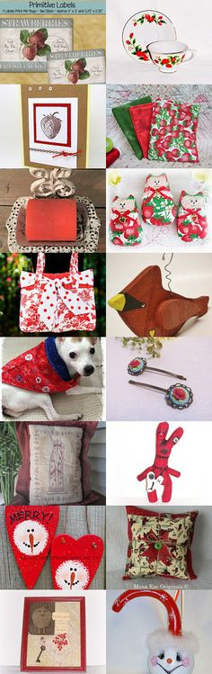 Strawberry Red- TeamHAHA by Michelle Boswell on Etsy--Pinned+with+TreasuryPin.com
