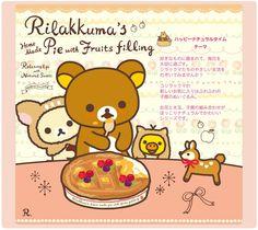 Rilakkuma's home made pie with fruits filling ^^