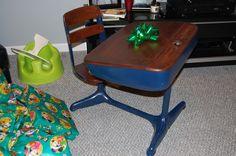 Old school desk refinished