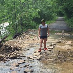 Linda wore her Duathlon Shorts for a wet trail run along the river Trail Running, River, Patterns, Shorts, Instagram Posts, How To Make, Block Prints, Cross Country Running, Rivers