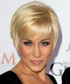 Kellie Pickler - Formal Short Straight Hairstyle. Click on the image to try on this hairstyle and view styling steps!