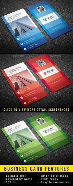 #Corporate #Business #Card - Business Cards Print Templates Download here: https://graphicriver.net/item/corporate-business-card/19525694?ref=alena994