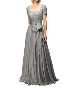 CCHAPPINESS Women's Floor Length Short Sleeve Mother Of The Bride Dresses Sliver Grey US 20 CChappiness http://smile.amazon.com/dp/B00OT5PU5W/ref=cm_sw_r_pi_dp_0R37wb127ST68