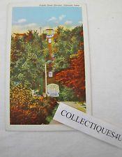 Vintage Postcard 1940s of Fourth Street Elevator Dubuque, Iowa