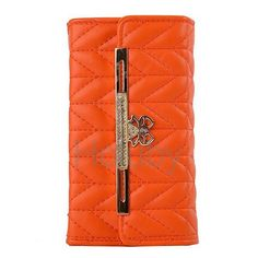 Fashion Handbag Wallet Style Chevron Texture Pattern with Bowknot Magnetic Buckle Flip PC+PU Leather Case for iPhone 6 Plus 6S Plus 5.5 inch(Orange)