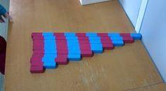 En classe avec Montessori: Les barres rouges et bleues
