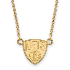 Brooklyn Nets Women's Gold Plated Pendant Necklace