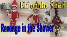 Our Elves on the Shelf got their revenge on Rob The Elf Home Wrecker. ________________________________________ The Elf Tradition Have you ever wondered how S. The Elf, Elf On The Shelf, Shelf Ideas, Revenge, Shelves, Shower, Holiday Decor, Shelving, Rain Shower Heads
