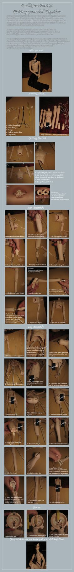 Doll Tutorial: How to Restring by Kit-chii