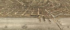 Ruger's Birdseye view of Cleveland (1877)