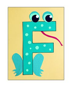 F is for Frog: Preschool Alphabet Letter Craft