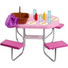 Superb Barbie Outdoor Furniture Assortment Now at Smyths Toys UK. Shop for Barbie At Great Prices. Barbie Sets, Barbie Doll Set, Mattel Barbie, Barbie Furniture, Poupées Our Generation, Furniture Sets Design, Furniture Ideas, Barbie Playsets, Barbie Doll Accessories