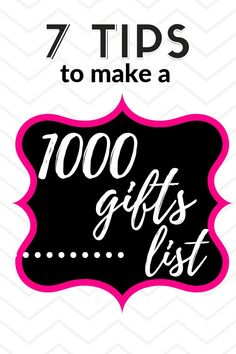 "7 Tips Make a Meaningful Gratitude List of 1000 Gifts. ""There is always, always, always something to be grateful for"" –Ann Voskamp Thank You Notes, Thank You Gifts, One Thousand Gifts, Volunteer Appreciation Gifts, 1000 Gifts, Gratitude Quotes, Joy And Happiness, Gift List, Self Improvement"
