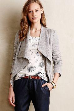 lorimer grey moto sweater jacket #anthrofave