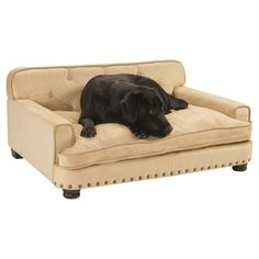 Enchanted Home Pet Library Pet Sofa - The classically designed Enchanted Home Pet Library Pet Sofa makes the perfect addition for pets who love to lean and snuggle while sleeping. This stylish...