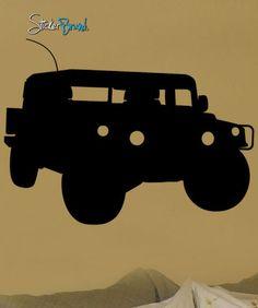 Vinyl Wall Decal Sticker Military Humvee Hummer #215
