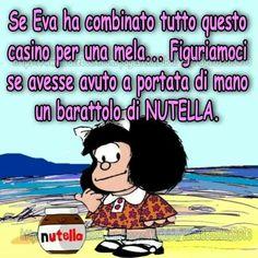 mela o Nutella? Emoticon, Emoji, Nutella, Vignettes, Quotations, Have Fun, About Me Blog, Smile, Comics