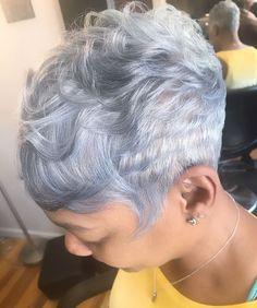 Gray Hair Short Cuts Black Women Short Cuts Pinterest