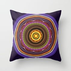 Turning into a flower Mandala Throw Pillow
