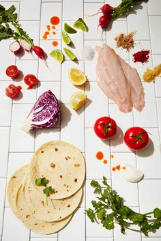 Secret Ingredient on Fish-Tacos + Sweet Take On Classic Grilled Cheese — Creative Entree Recipes, Fish Recipes, Seafood Recipes, Mexican Food Recipes, Ethnic Recipes, Taco Games, How To Cook Tilapia, Quick Pickled Radishes, Best Fish Taco Recipe