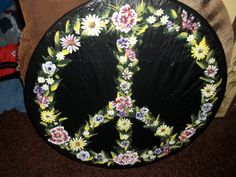 custom painted spare tire cover by kateskraftsgifts on Etsy