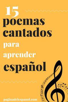 15 poemas cantados para aprender español | La página del español