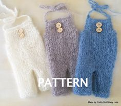 CS7 Baby Overall knitting PATTERN: Baby Romper Pattern, Baby Dungaree pattern, Baby onesie pattern, baby photography prop . Newborn prop