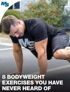 No problem! With these 8 bodyweight exercises, you can get in a good workout anywhere. And here's the twist, you've probably never heard of them! Bodyweight Training Program, Weight Training Workouts, Body Weight Training, Workout Programs, Weight Training Programs, Weight Lifting, Weight Loss, Planet Fitness Workout, Ace Fitness