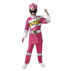 Power Rangers Dino Charge kostuum - roze - maat 128/140  Ga verkleed als een van de Power Rangers in dit roze pak. Dit overall wordt geleverd met het bijpassende masker.  EUR 29.99  Meer informatie