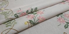 Handmade Rectangular Embroidered Tablecloth, 122x156cm/48x61in Pink Fabric, Cotton Fabric, Table Toppers, Tablecloths, Cotton Thread, Shades Of Green, Bronze, Colours, Rustic