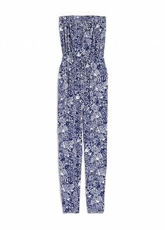 Every Single Piece From The Lilly Pulitzer x Target Collection #refinery29  http://www.refinery29.com/2015/03/84530/lilly-pulitzer-target-collaboration-lookbook#slide-47  Lilly Pulitzer for Target Strapless Jumpsuit - Upstream, $40, available at Target.