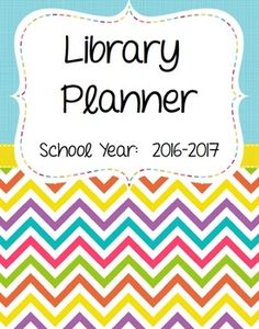 School Librarian Planner***Updated for the 2016-2017 school year***This is a planner designed specifically for the school librarian! There are over 300 pages to help you keep organized. It includes pdf pages and customizable pages. You can organize the binder in many different ways.