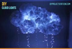 Cool Crafts for Teens Boys and Girls - DIY Cloud Lights for Bedroom Decor Ideas - Creative, Awesome Teen DIY Projects and Fun Creative Crafts for Tweens