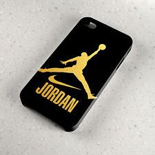 New Air Jordan Nike Gold Logo Design Fit For Samsung Iphone Ipod Cover Case