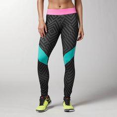 Urban Active Pat Legging - from Reebok - #running #tights #printedtights #fitness
