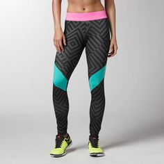 Urban Active Pat Legging - from Reebok - #running #tights #printedtights #fitness